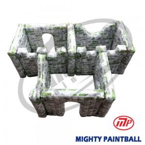 scenario bunker - Walls - 3 Boxes Shape